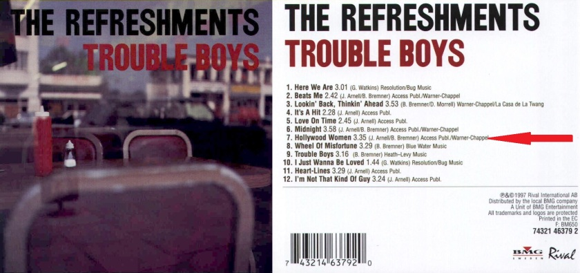 The Refreshments - Trouble Boys - Front-horz